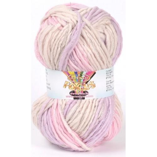 pale purple, beige, pink