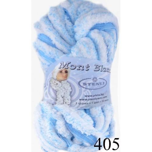 Мон блан - синьо с бяло