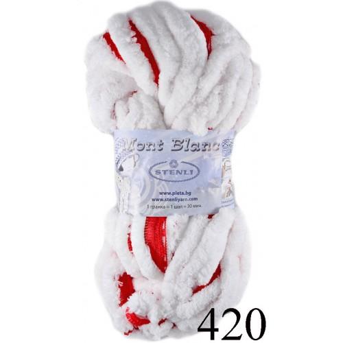 Мон блан - бяло с червено