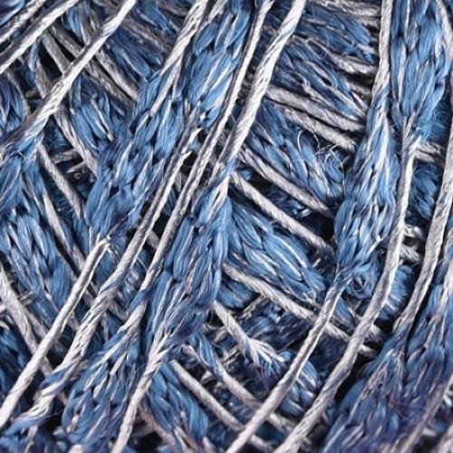 синьо и сребристо