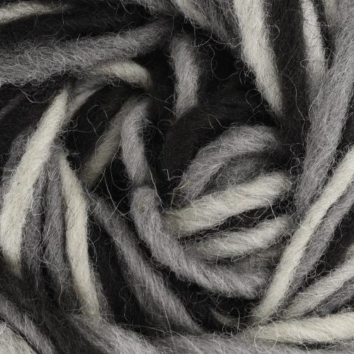 черно-сив меланж