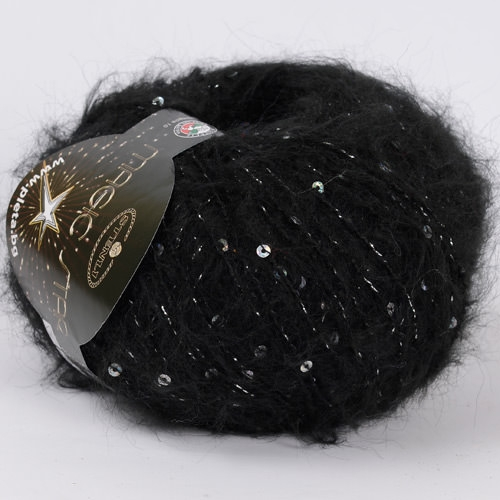 black with silver lame and spangles