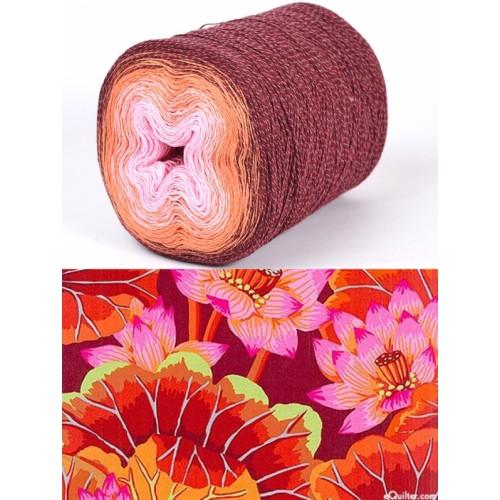 бордо, оранжево, розово