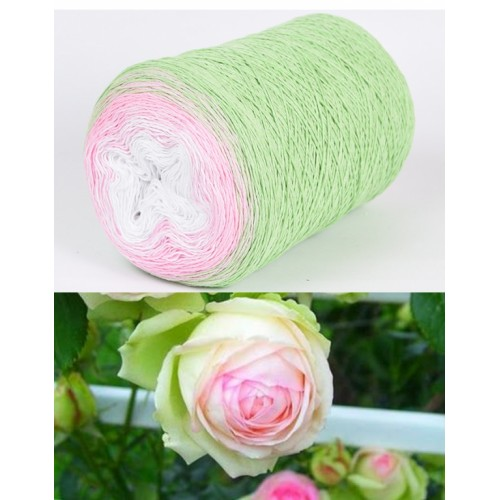 светло зелено, розово, бяло