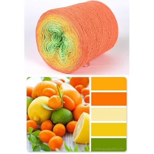 оранжево, жълто, зелено