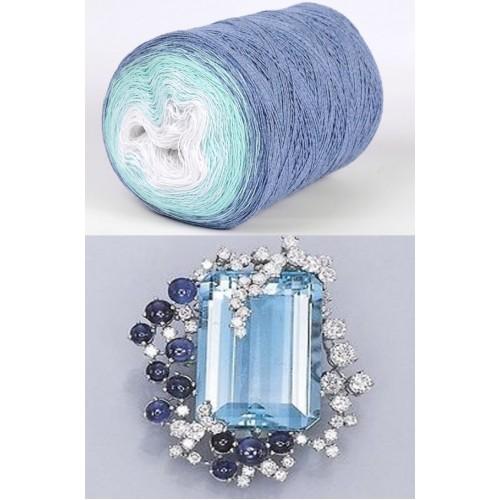 Суфле - синьо,тюркоаз,бяло