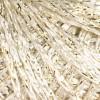 бяла коприна + златно ламе