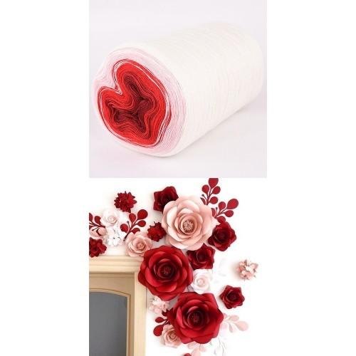 бяло, бледо розово, червено, бордо