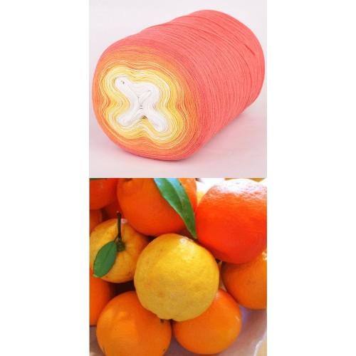 корал, оранжево, жълто, бяло