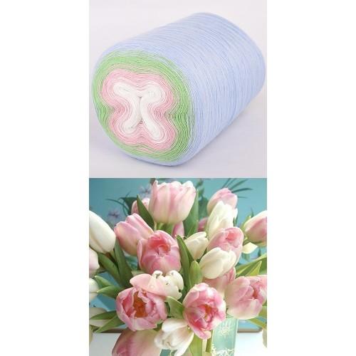 светло синьо, резеда, бледо розово, бяло