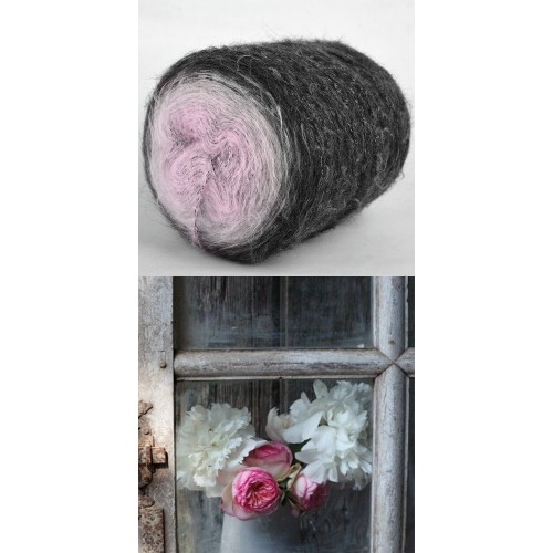 графит, светло сиво и розово