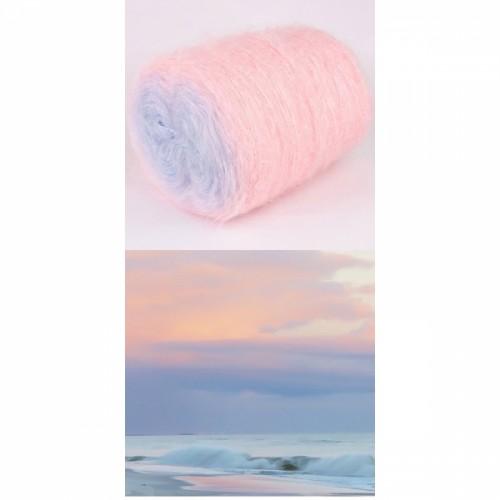 светло розово, бледо лилаво, небесно синьо