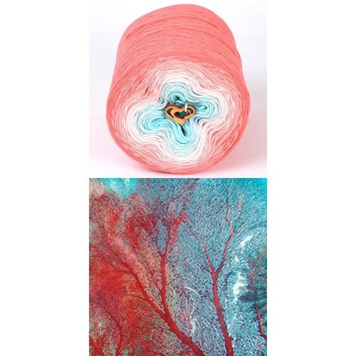 корал, сьомга, бледо розово, тюркоаз