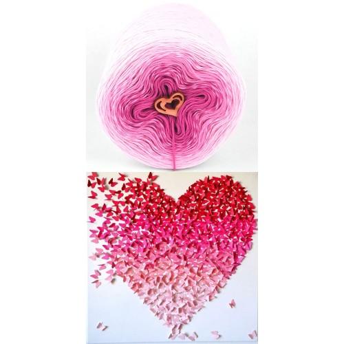бяло, розово, светла циклама