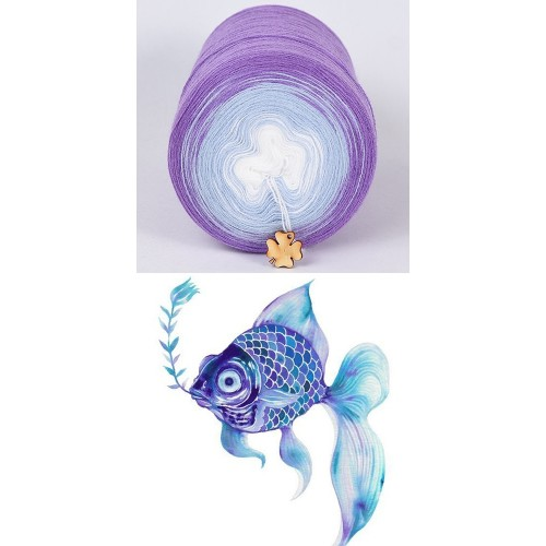 лилаво, синьо, бяло