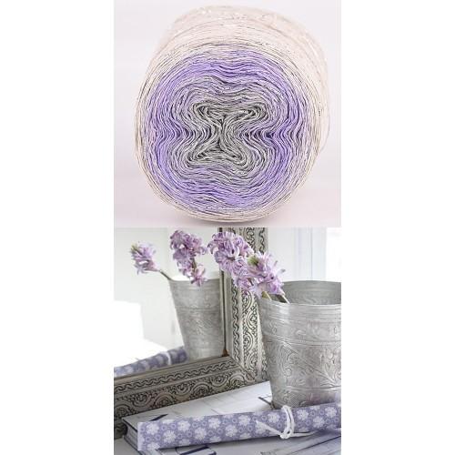 light beige, purple, grey with silver lurex