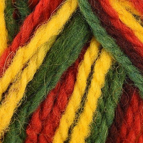 yellow, red, dark green
