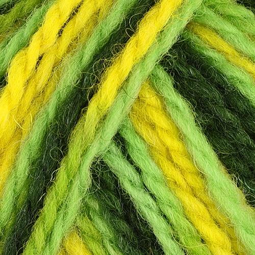 yellow, bright and dark green