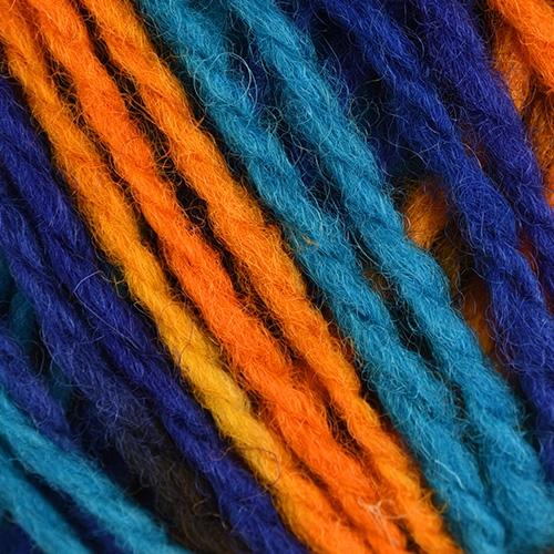 turquoise, royal blue, orange