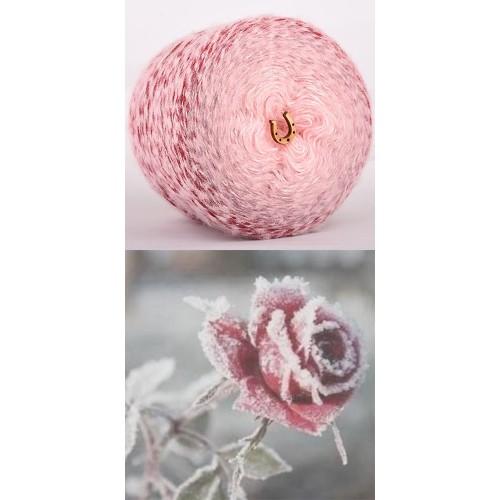 роза с розов мохер